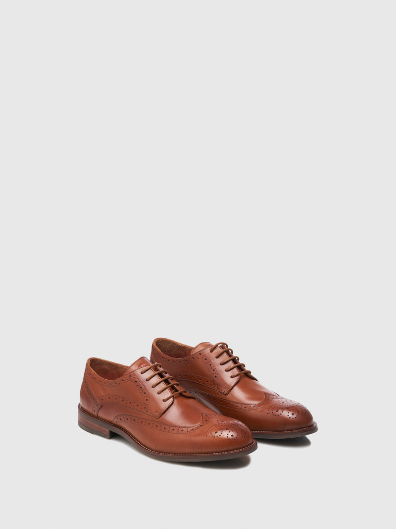 Nobrand Tan Lace-up Shoes