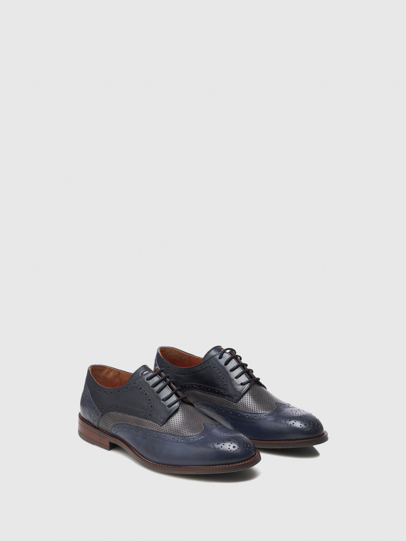 Nobrand Blue Lace-up Shoes