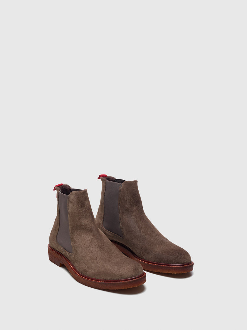 Nobrand Taupe Chelsea Boots