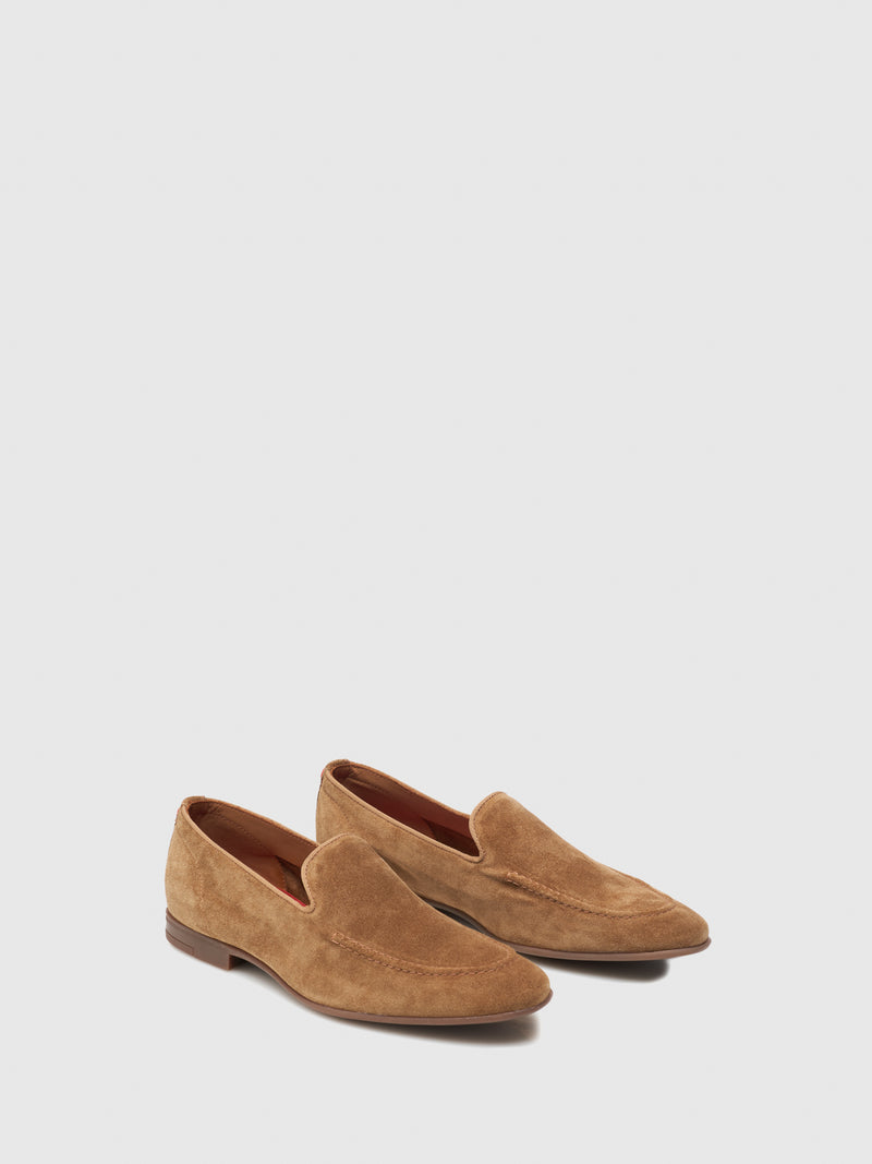 Nobrand Tan Flat Shoes