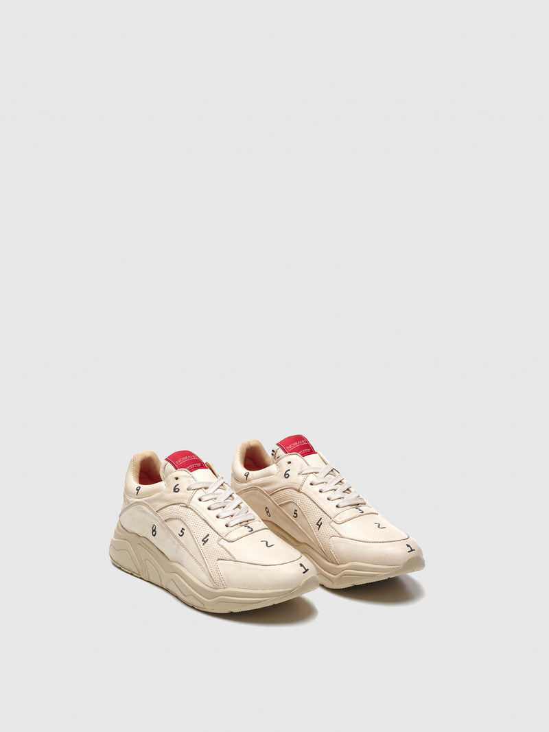 Nobrand Beige Lace-up Trainers