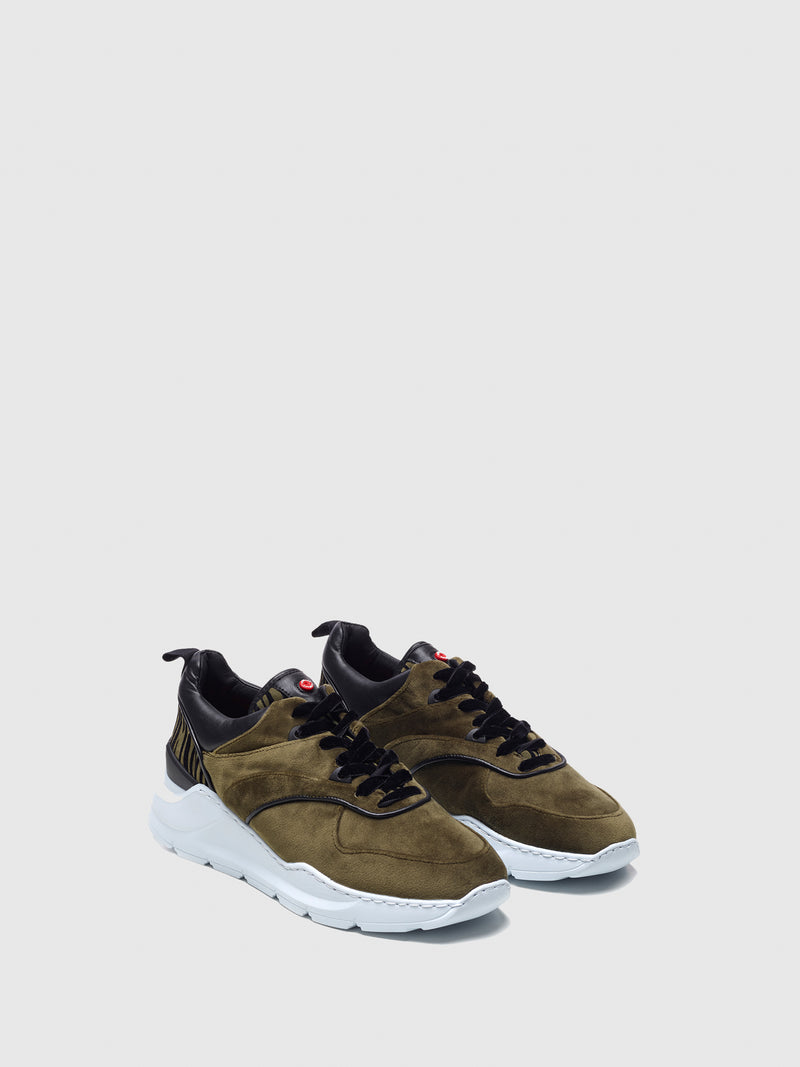 Nobrand Khaki Lace-up Trainers