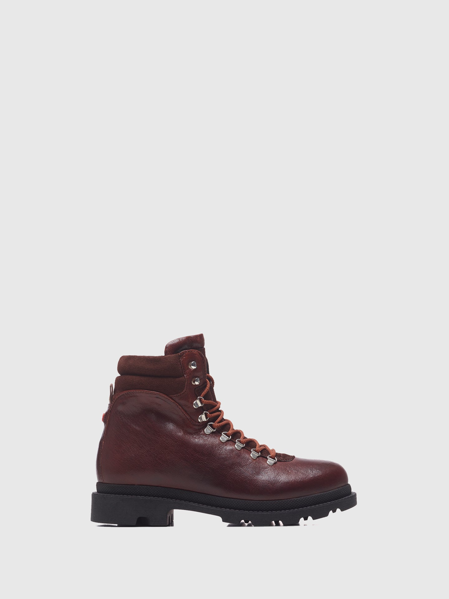 Nobrand Brown Lace-up Boots