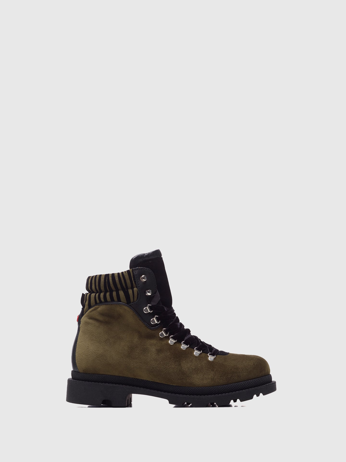 Nobrand Khaki Lace-up Boots