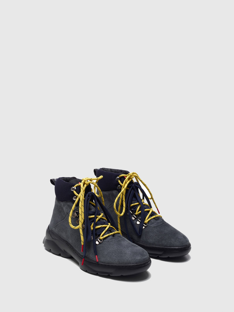 Nobrand Gray Lace-up Boots