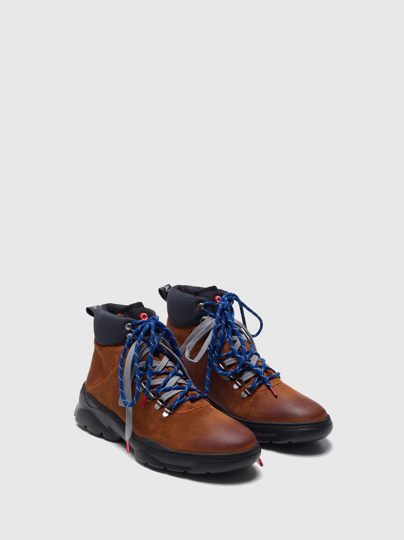 Tan Lace-up Boots