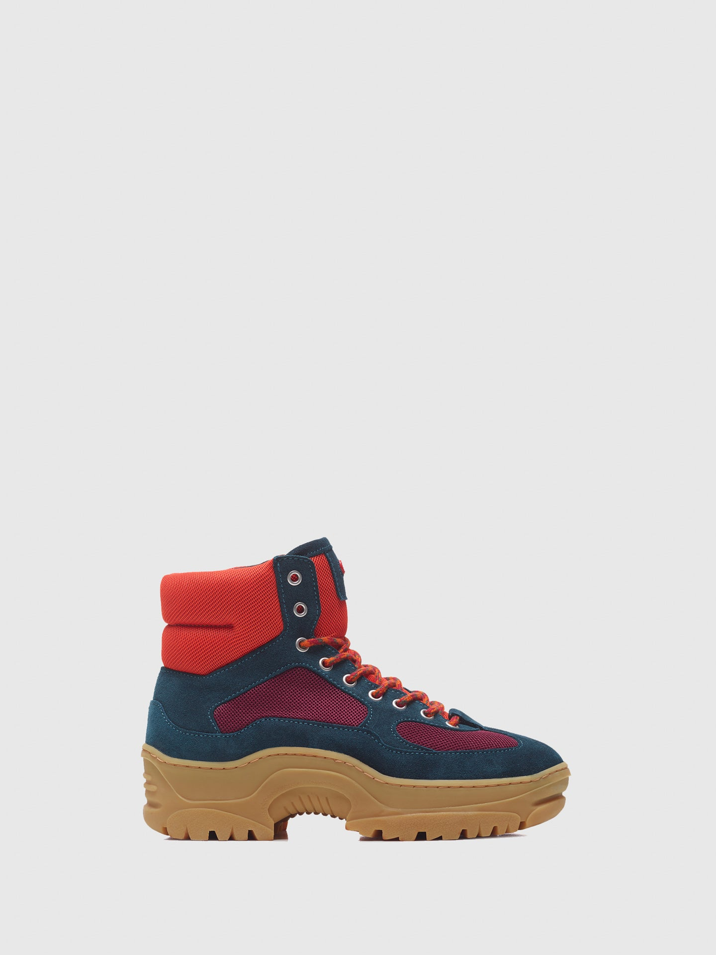 Nobrand Multicolor Lace-up Boots