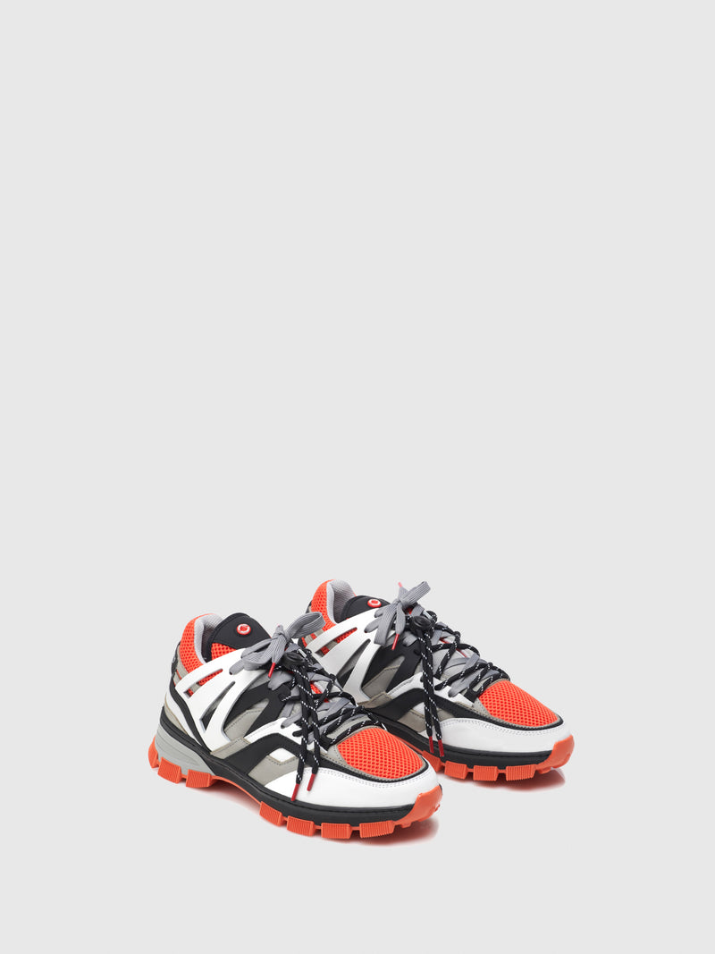 Nobrand Orange Platform Trainers