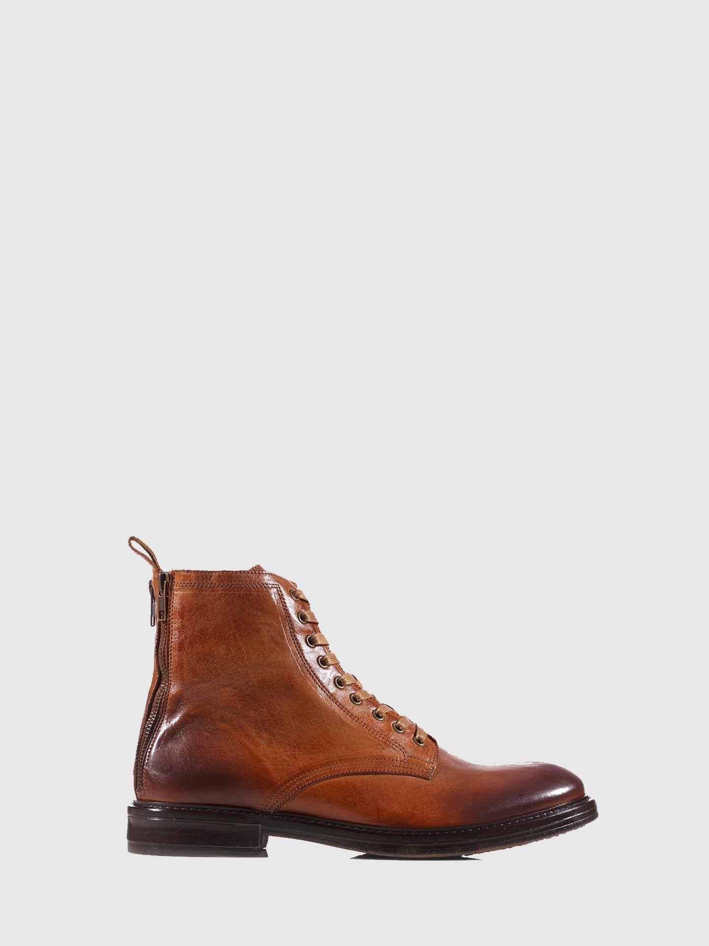 Nobrand Caramel Brown Military Boots