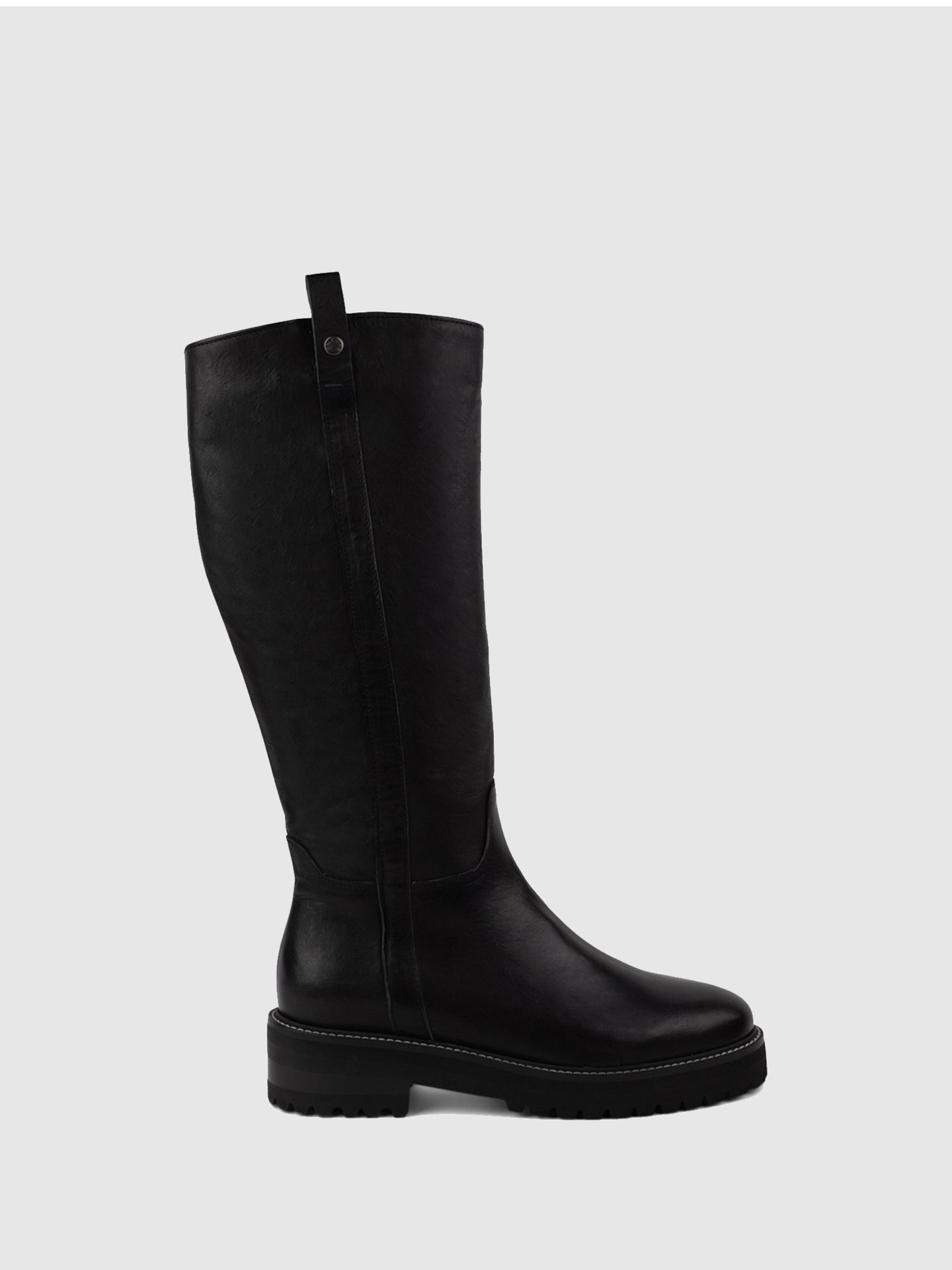 Only2me Black Round Toe Boots