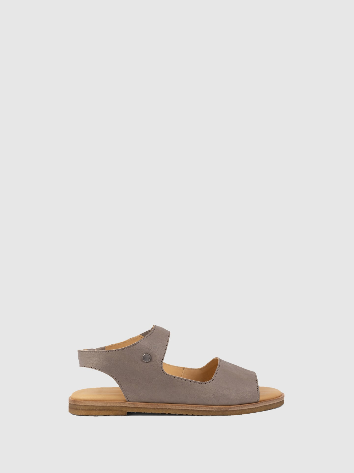 Only2me Gray Flat Sandals