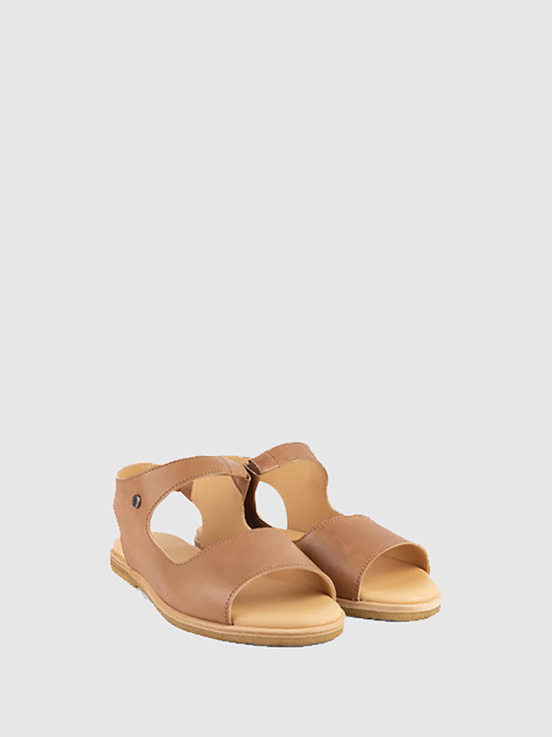 Only2me Beige Flat Sandals