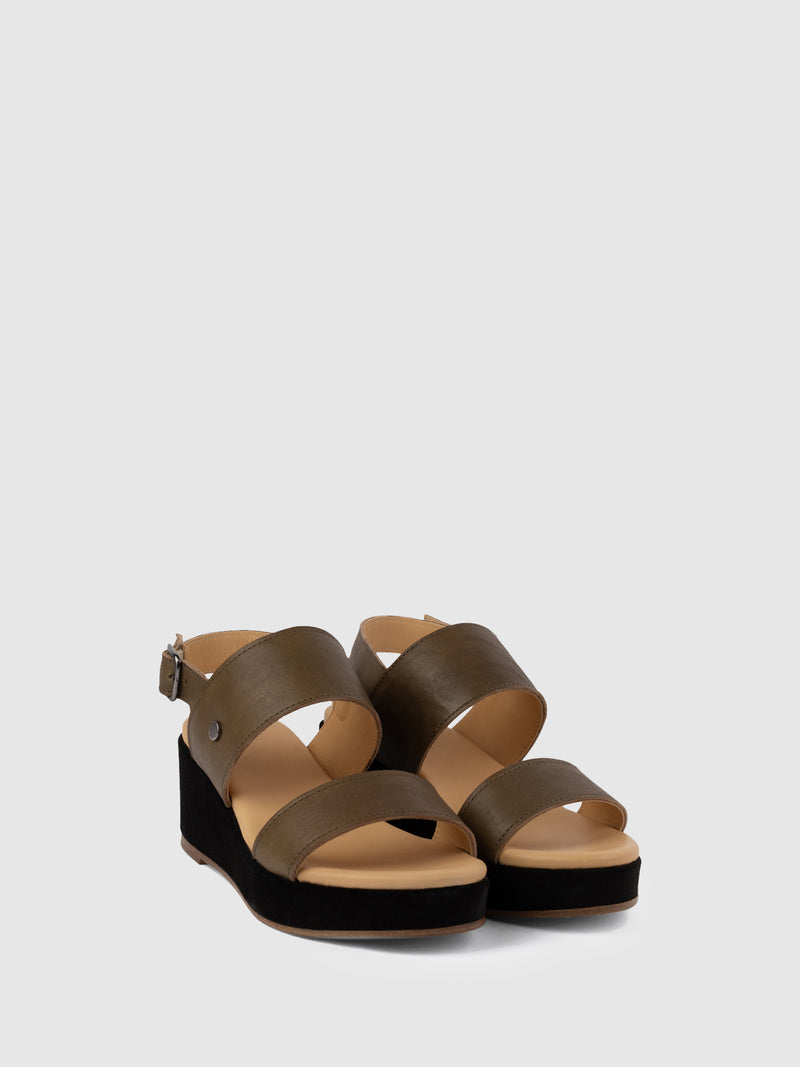 SandyBrown Wedge Sandals
