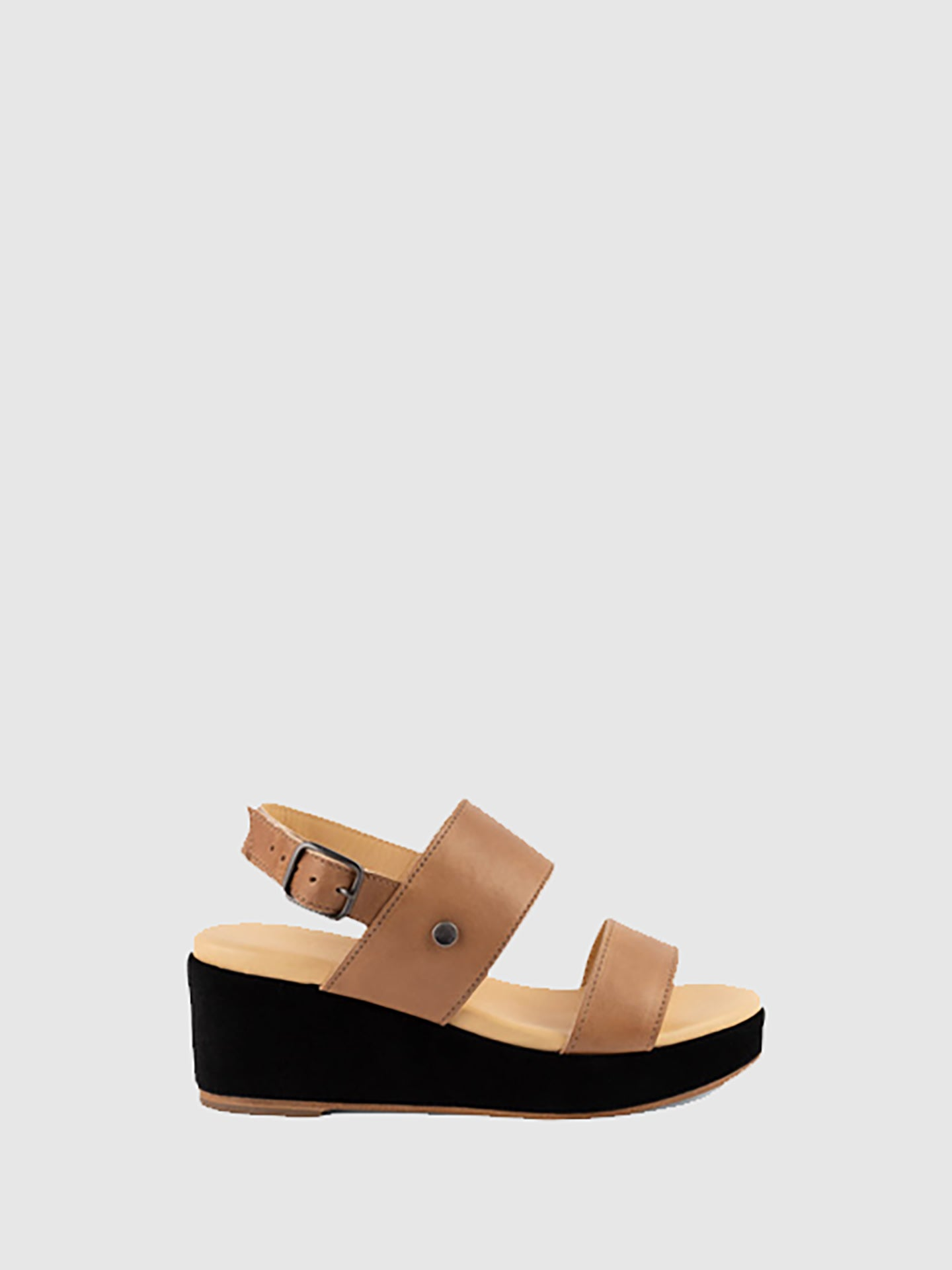 Only2me Beige Wedge Sandals