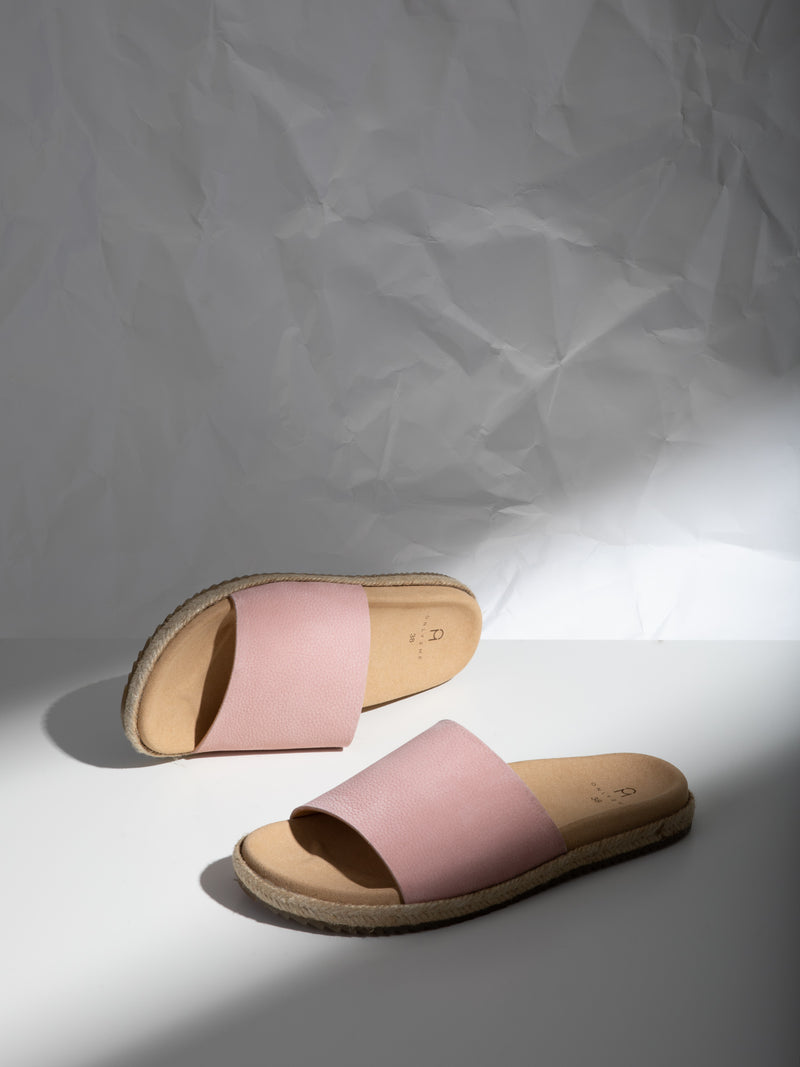 Only2me Pink Open Toe Mules