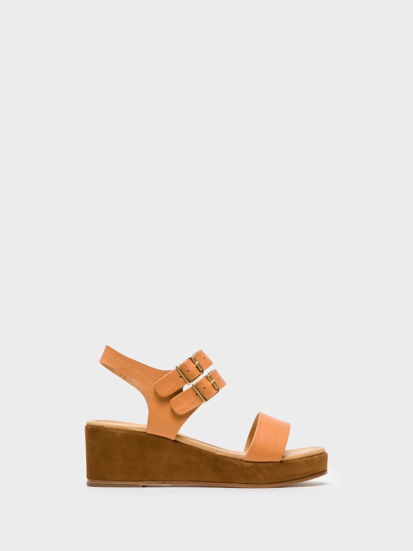 Only2me Brown Wedge Shoes