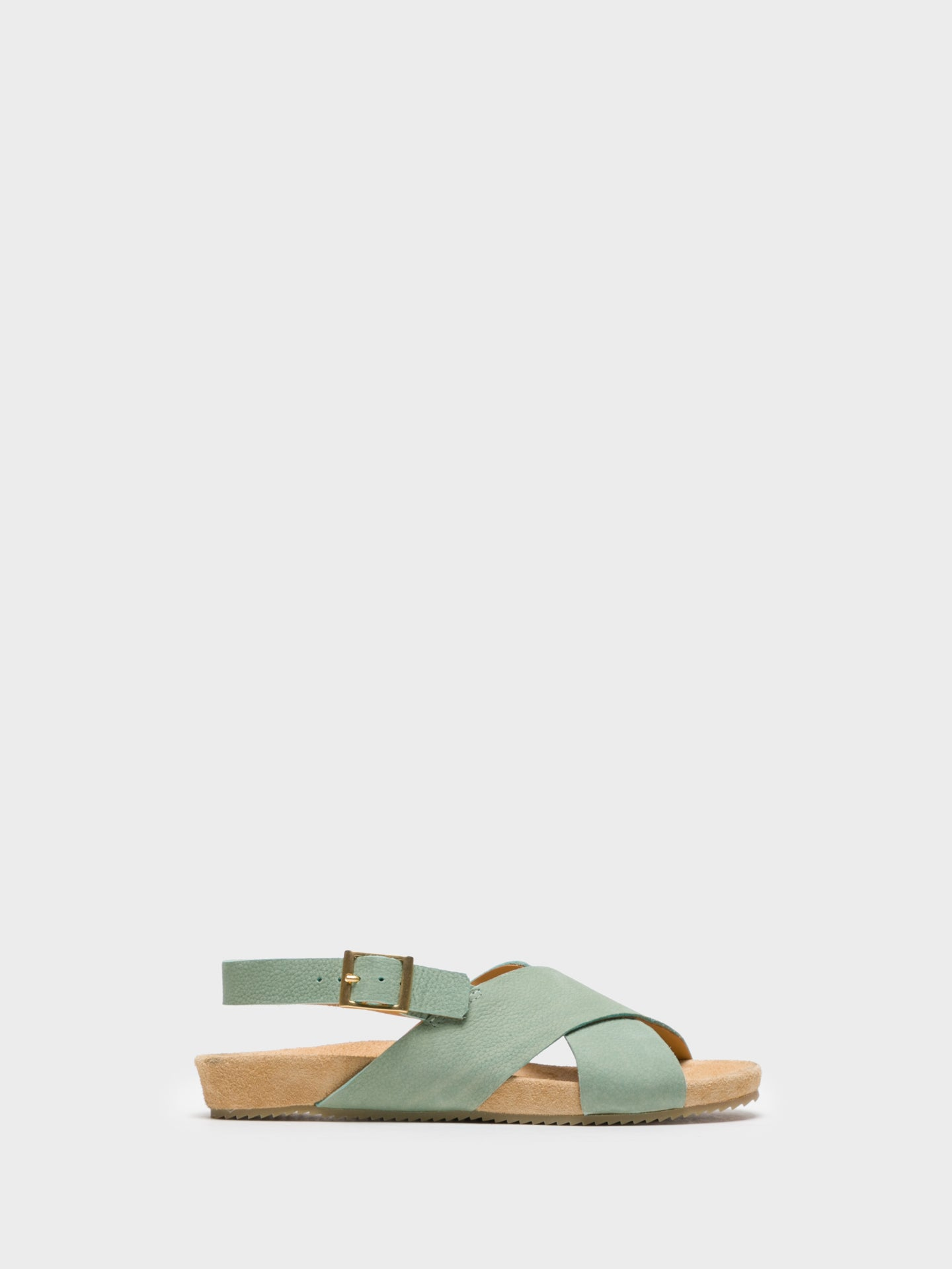 Only2me Green Buckle Sandals