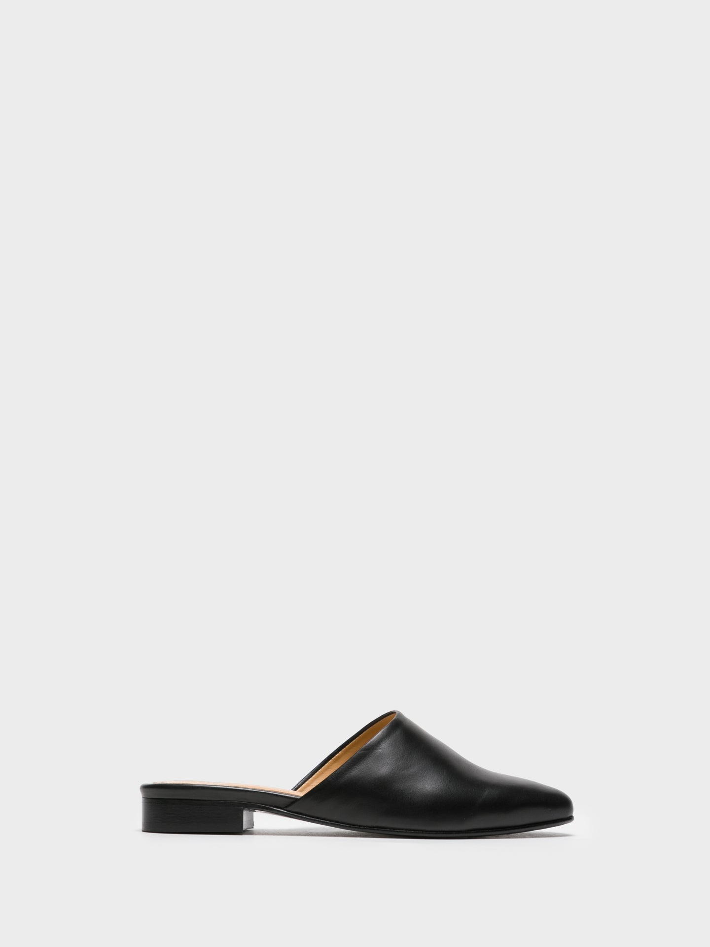 Only2me Black Pointed Toe Mules