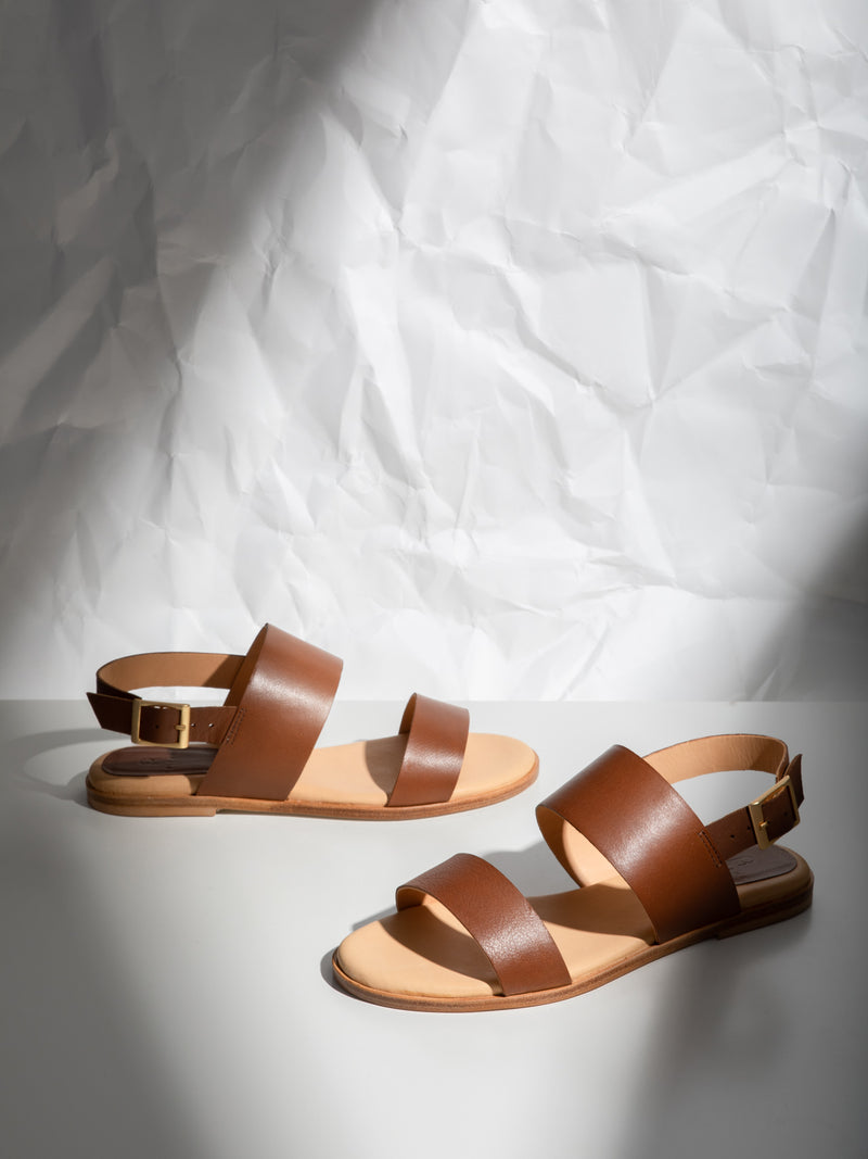 Only2me Brown Buckle Sandals