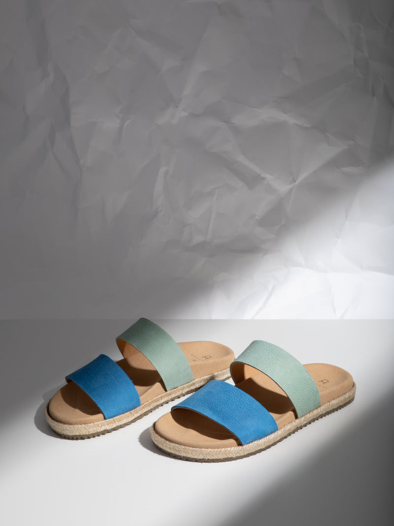 Only2me Blue Open Toe Mules