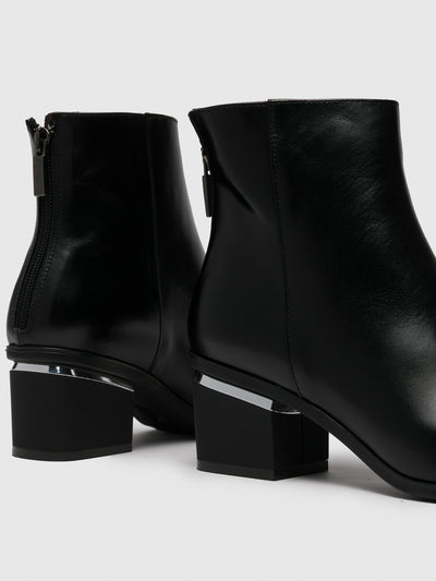Only2me Black Pointed Toe Ankle Boots