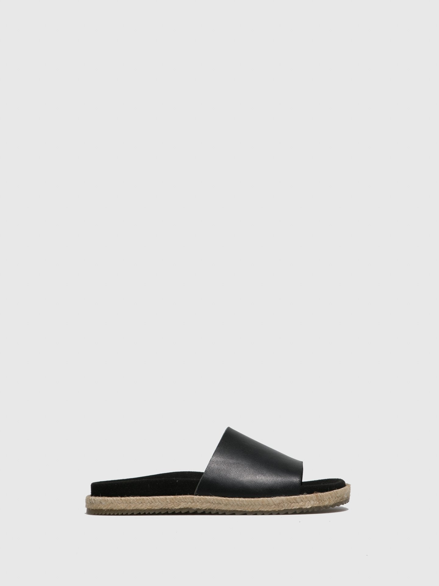 Only2me Black Casual Slides