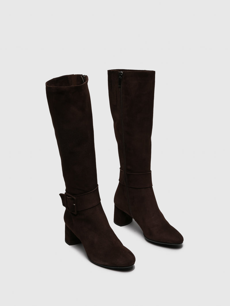 Only2me Brown Knee-High Boots