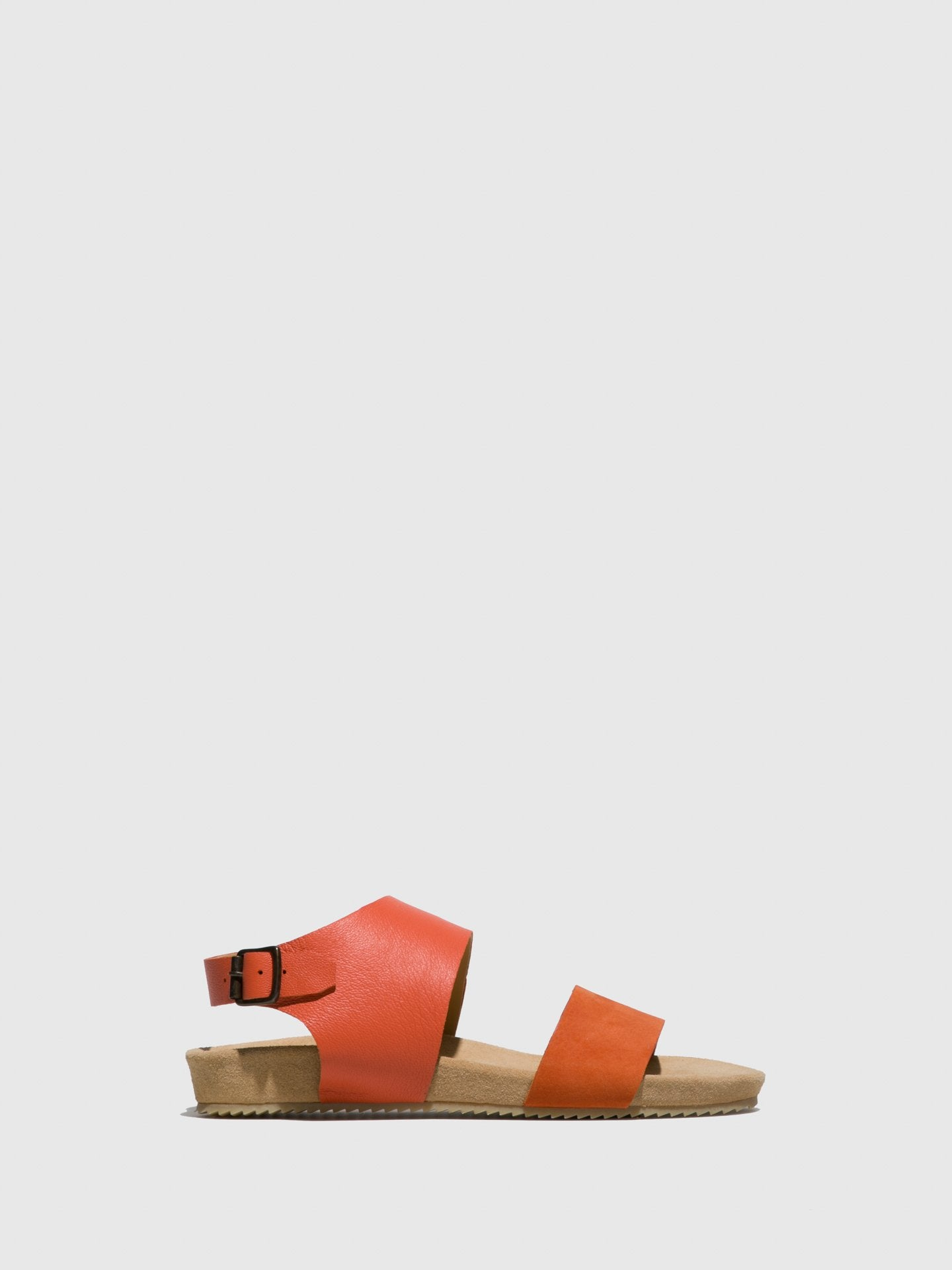 Only2me Orange Leather Strappy Sandals