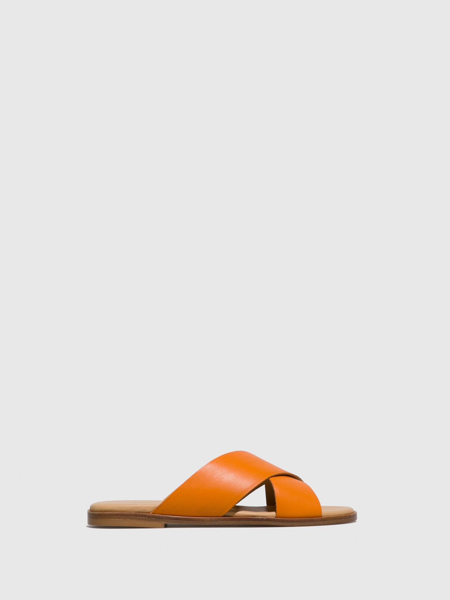 Only2me Orange Casual Slides