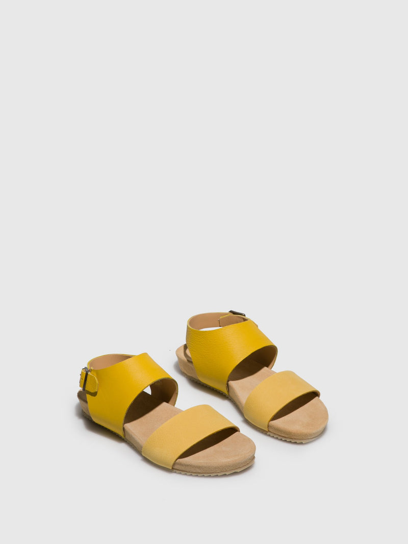 Yellow Sling-Back Sandals