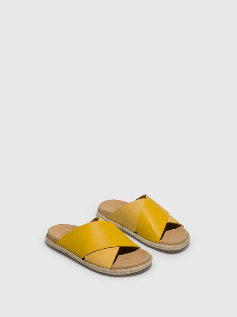 Only2me Yellow Casual Slides