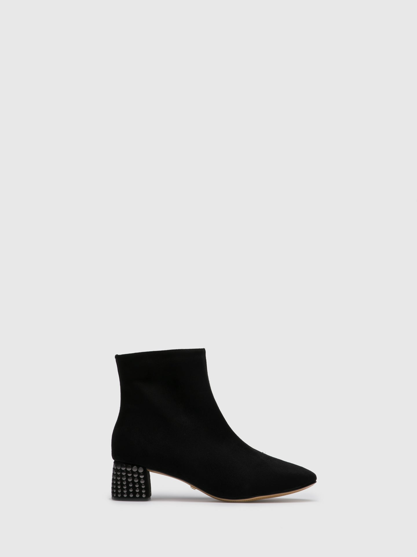 PARODI PASSION Black Zip Up Ankle Boots