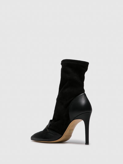 PARODI PASSION Black Pointed Toe Boots
