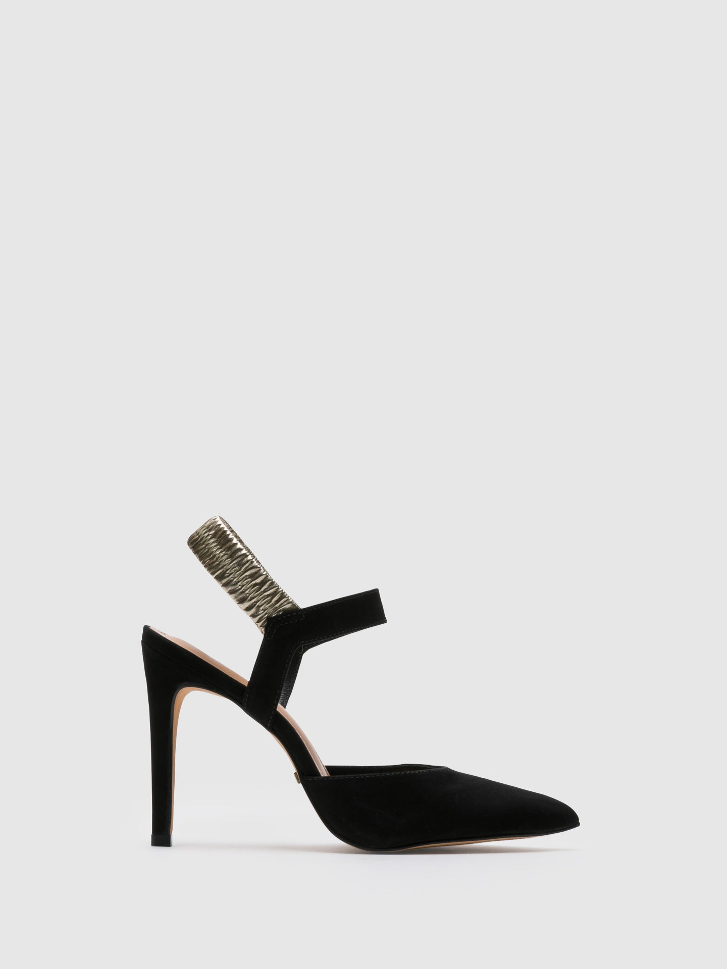 Parodi Passion Black Sling-Back Pumps Sandals
