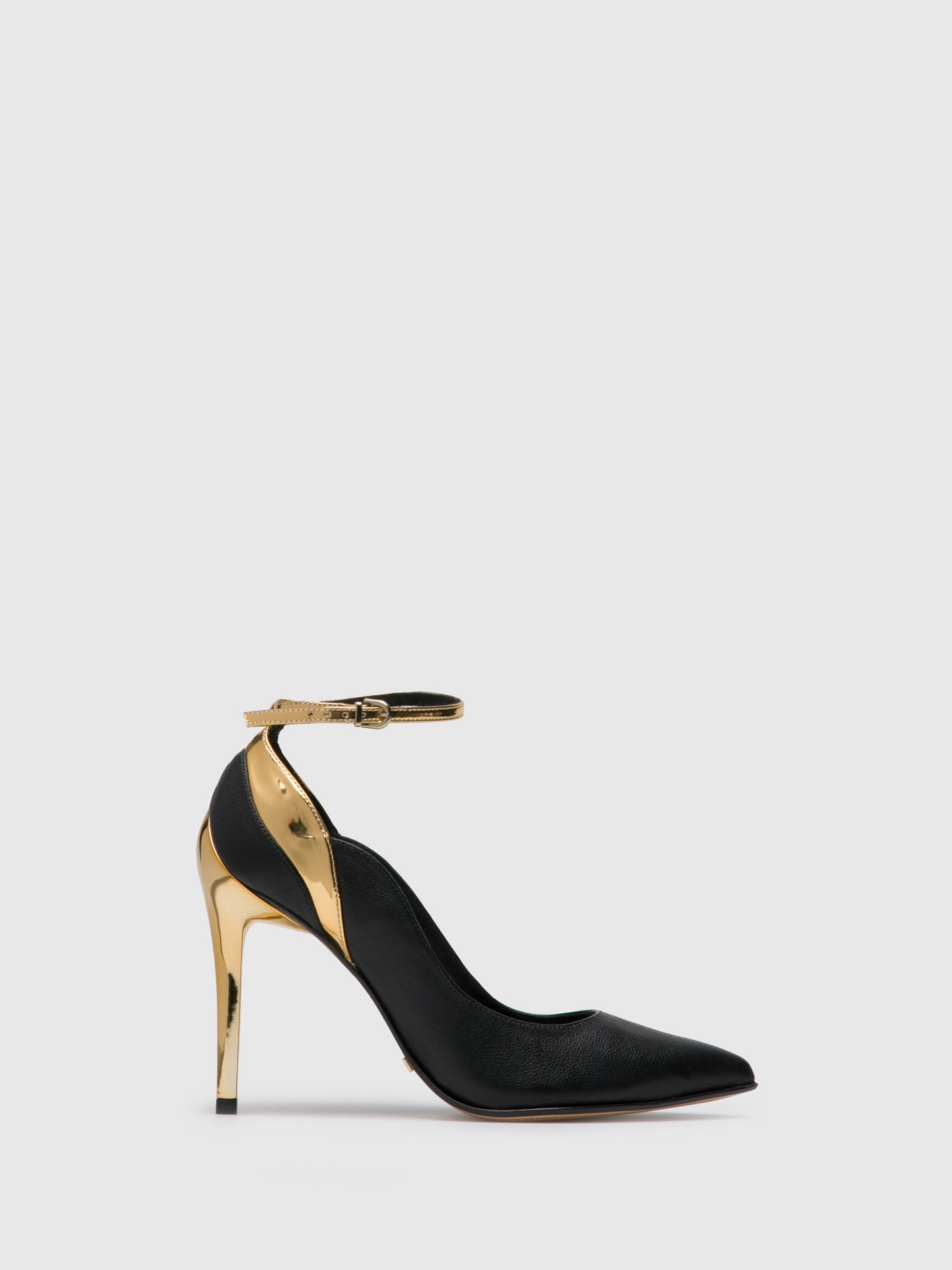 PARODI PASSION Black Ankle Strap Pumps