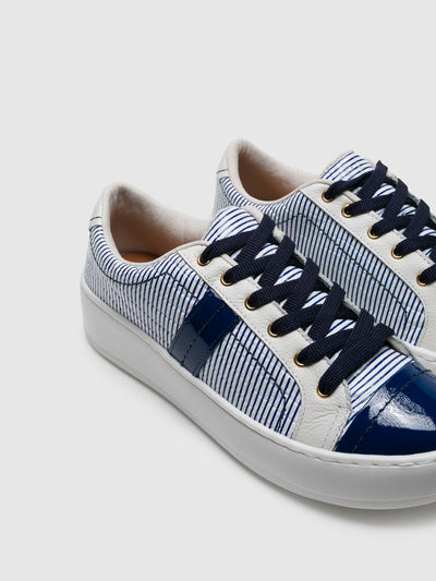 PARODI PASSION Navy Lace-up Trainers