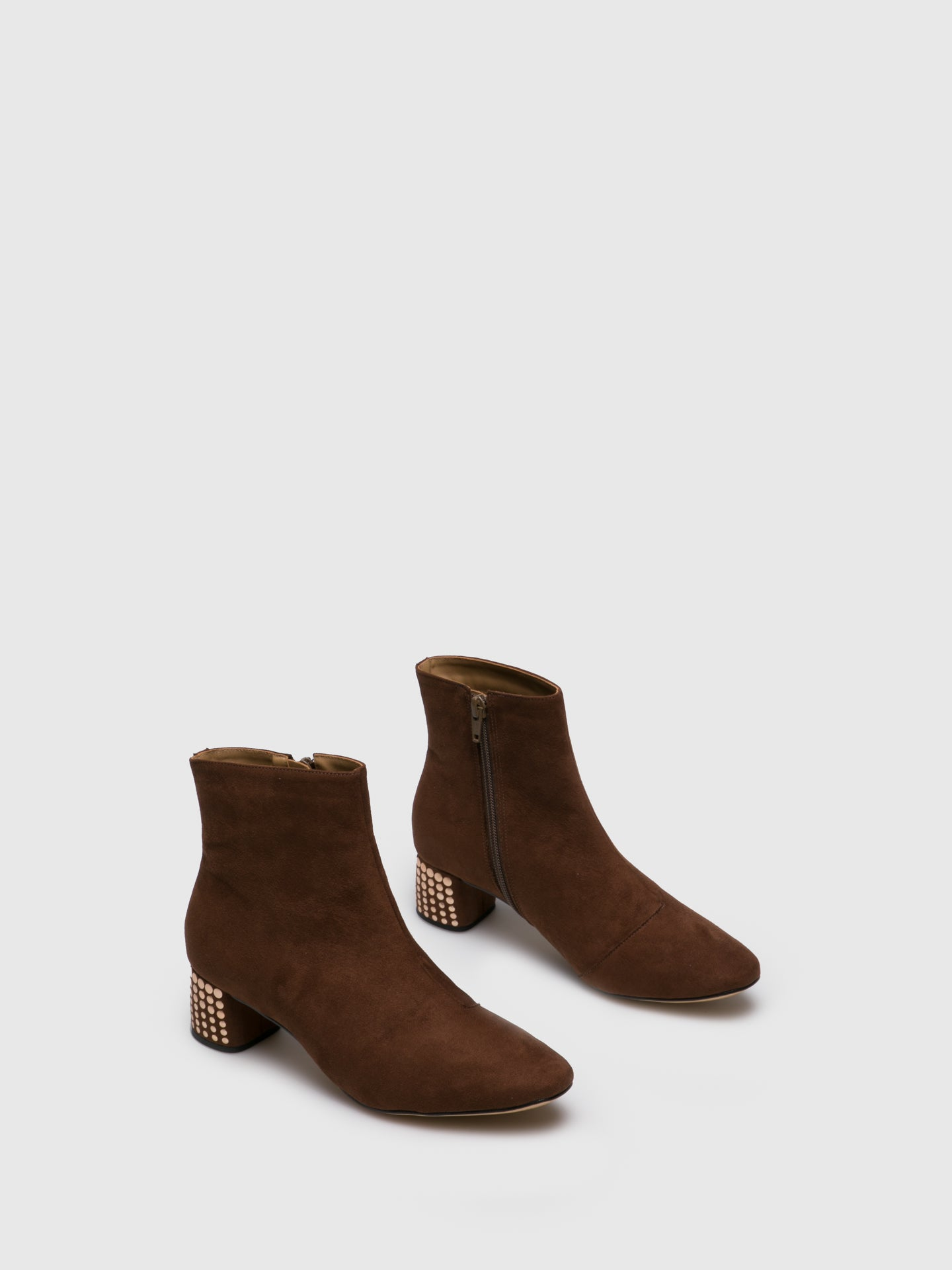 Parodi Passion Camel Zip Up Ankle Boots