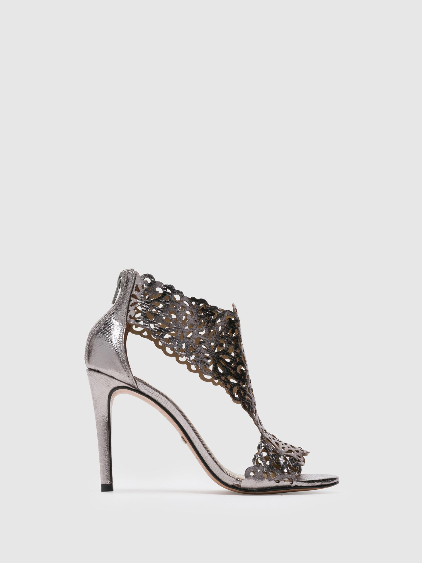 PARODI PASSION Silver Heel Sandals