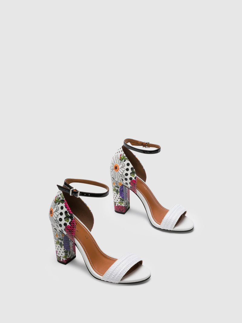Multicolor Ankle Strap Sandals