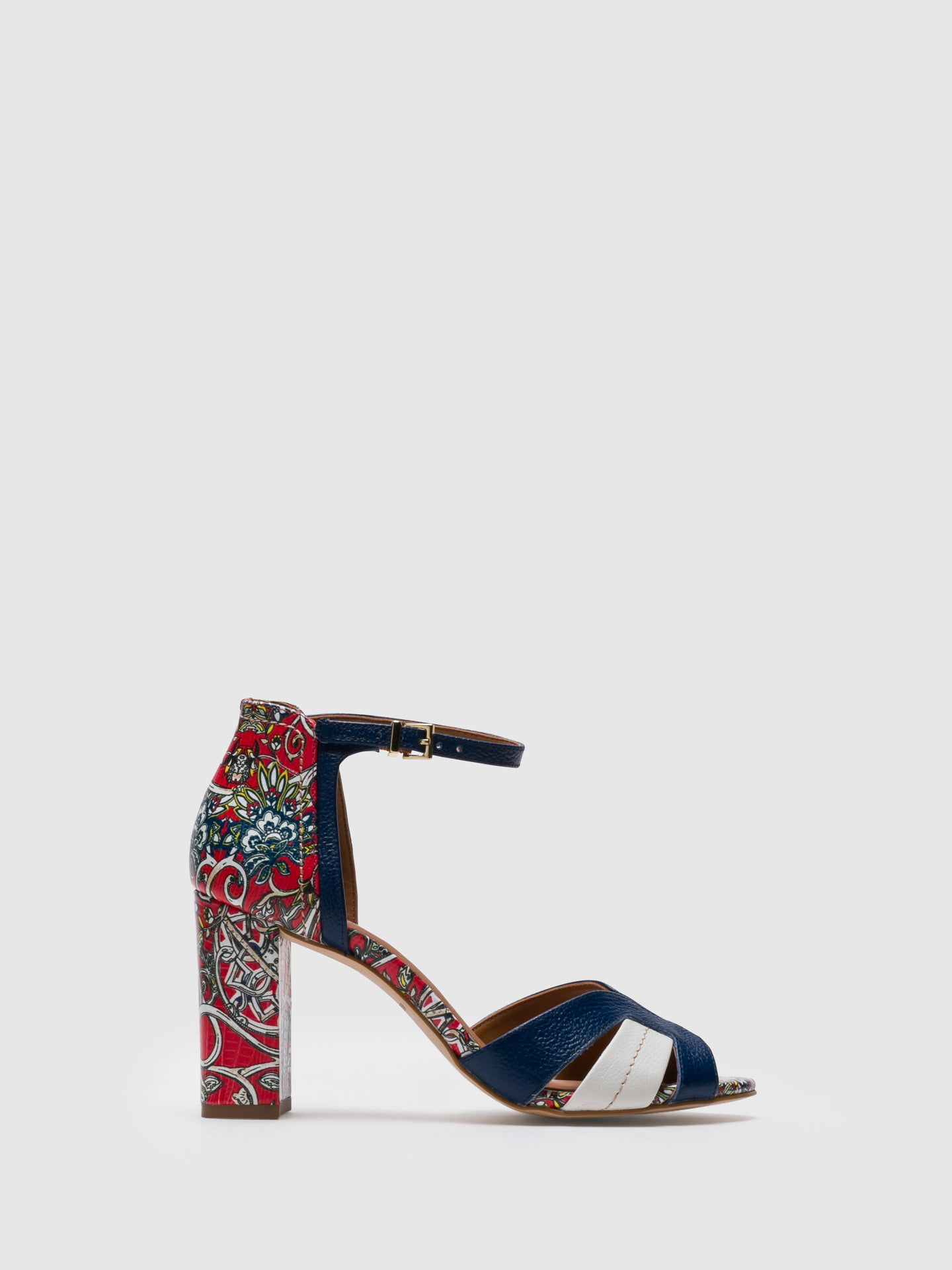 PARODI PASSION Multicolor Ankle Strap Sandals