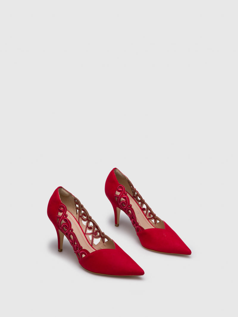 Red Pointed Toe Shoes
