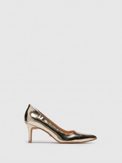 PARODI PASSION Gold Pointed Toe Shoes
