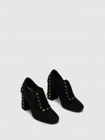 PARODI SUNSHINE Black Lace-up Shoes