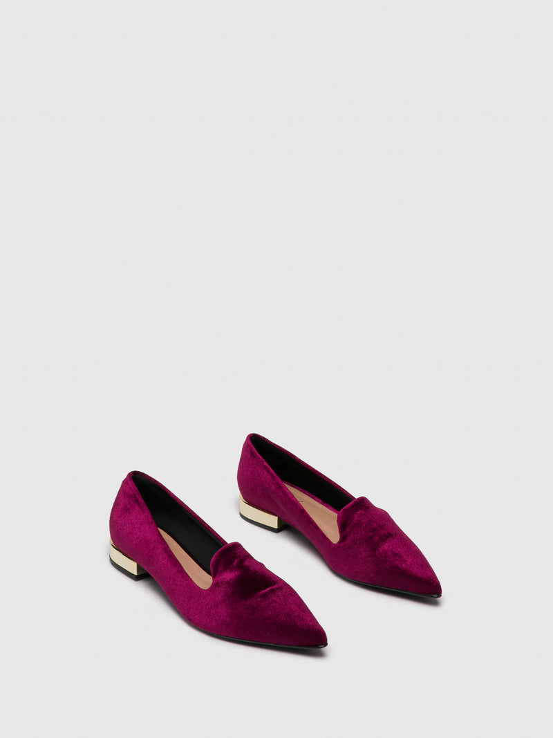 DarkRed Pointed Toe Ballerinas