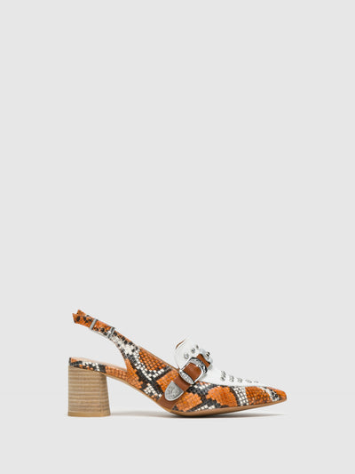 Perlato Multicolor Sling-Back Pumps Sandals