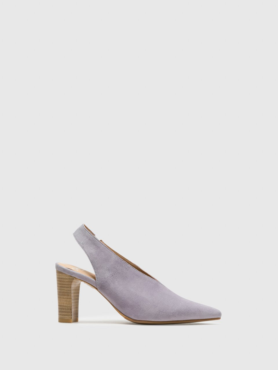Perlato Purple Sling-Back Pumps Shoes