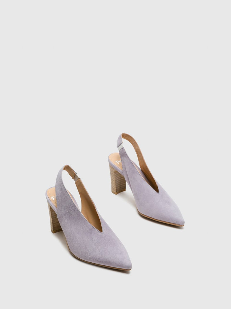 Purple Sling-Back Pumps Shoes