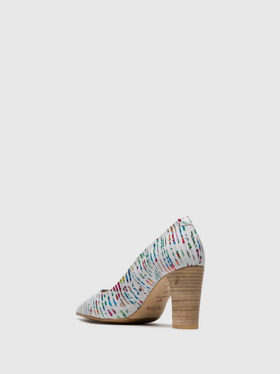 Perlato Multicolor Chunky Heel Shoes
