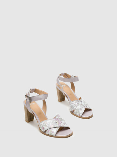 Perlato Multicolor Buckle Sandals