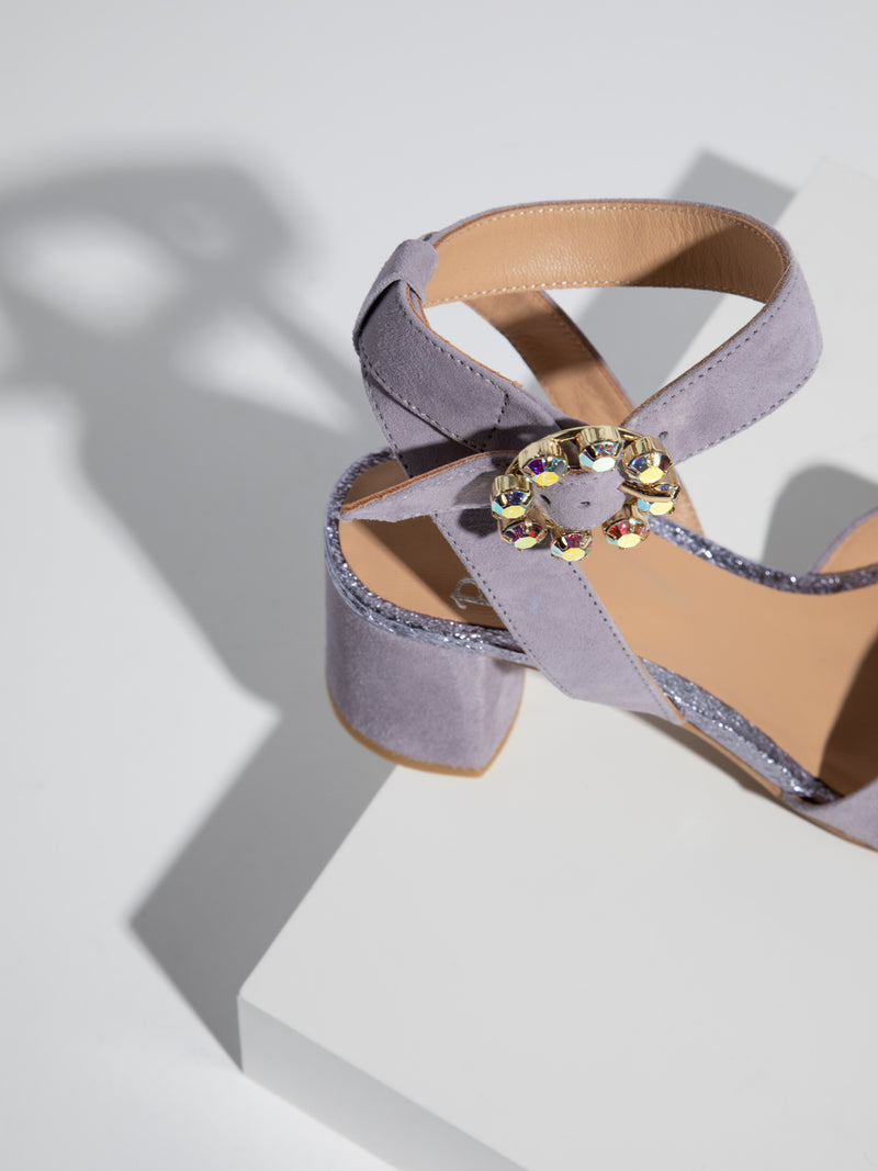 Purple Buckle Sandals